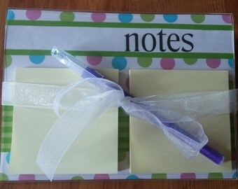 Post It Note Writing Station/Holder with Pen Two Sizes!