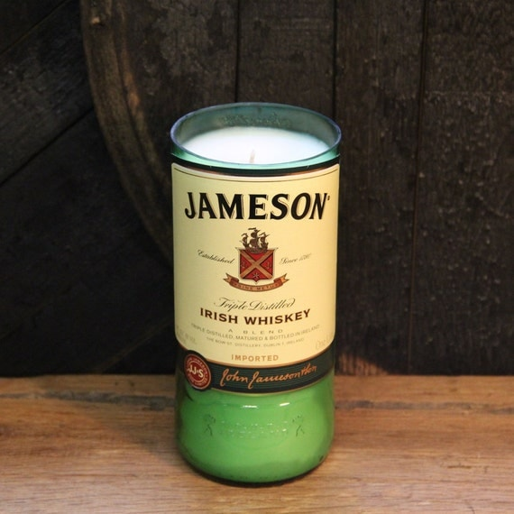 Upcycled Jameson Whiskey Candle Gift For Him, Valentine's Gift, Uncle Gift, Perfect Gift For Guy, Valentine's Bourbon Gift, Whiskey Present