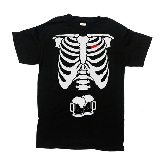 Beer Skeleton Rib Cage Shirt Halloween TShirt Halloween