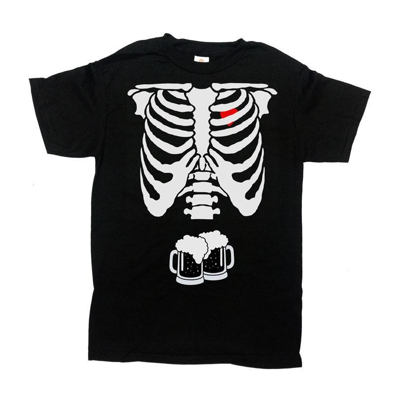 Beer Skeleton Rib Cage Shirt Halloween TShirt Halloween