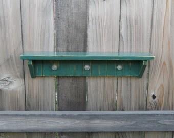 Aqua Shelf With Glass Hooks