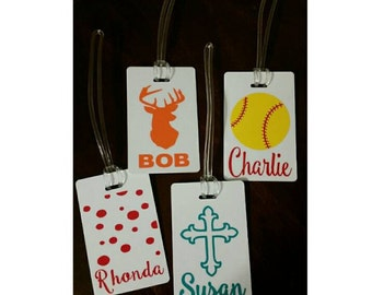 Personalized luggage tags with monogram or custom picture