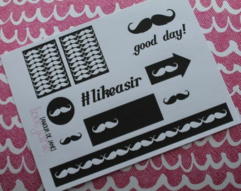 Like A Sir Mustache Stickers