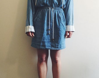Vintage Hooded Chambray Jumper