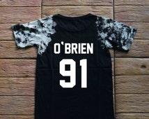 Dylan O'Brien Teen Wolf Tie dye Shirt Tye Dye Shirt Black Shirt