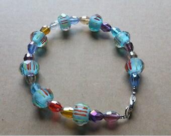 Multi colored beaded bracelet