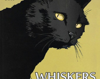 Cat Coffee Cat Rescue Cafe Whiskers Vintage Poster Repro FREE SHIPPING