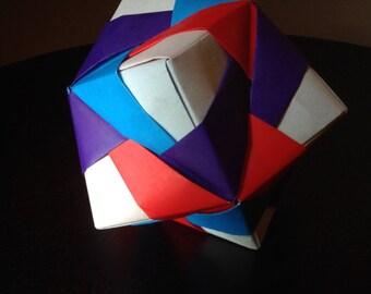 12-Piece Modular Origami Sonobe Ball (Solid Colors)