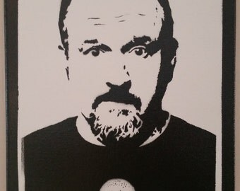Louis CK  Stencil Spray Painting