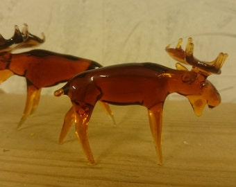 Beautiful little glass Moose, a super gift for all fans of cuddly Nordic animals!