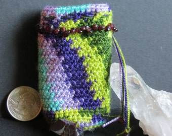 SALE! Crystal Crochet Bag, Crochet Bag, Small Crochet bag