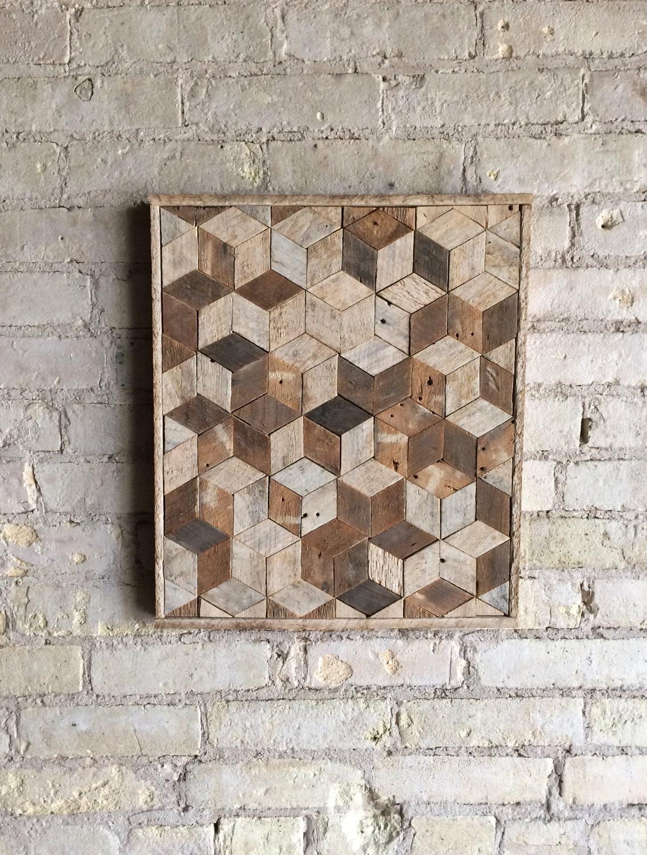Reclaimed Wood Wall Art Reclaimed Wood Wall Art Decor Pattern Lath 3d Cube