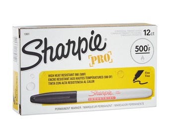 12 Sharpie Industrial Pro Fine Point Permanent Markers | Black, 12 Pack | Art, Drawing, Packing, and Shipping Supplies
