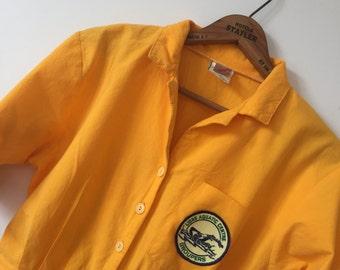 1980's vintage mustard jumpsuit