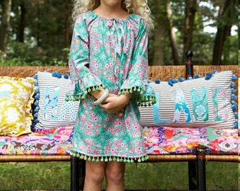 Sis Boom Leighanna Girls Peasant Top or Peasant Dress Sewing Pattern PDF - with Scientific Seamstress
