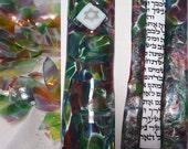 Wedding Shards Mezuzah Fused Glass