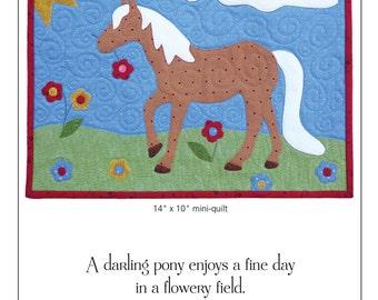 Bonny Little Horse Mini-Quilt Pattern