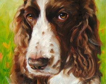"""QueenBee w PolkaDots, Custom Pet Portrait Oil Painting by puci, 8x10"""""""