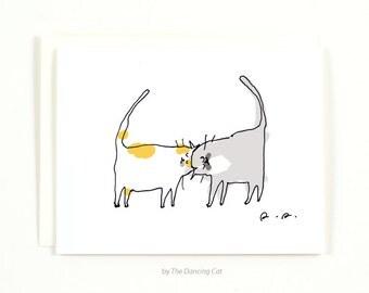 Headbutt Cat Card - Love Card - Funny Cat Card