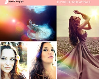 Lens Flare Photoshop Overlays, golden hour effect, rays of light, rainbows, light fun, photoshop overlay, light overlays