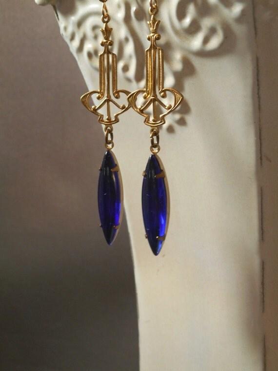 Miss Fisher Earrings Art Deco Earrings Phryne Fisher