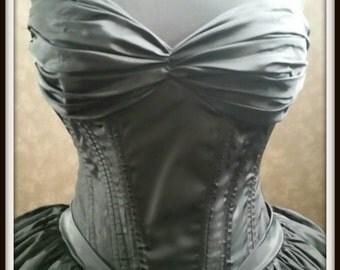 Black Corset Wedding Dress Gothic Bridal Gown