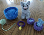 Crochet Kitty Set, Made to Order
