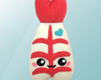 Shrimp plushie / Prawn kawaii food pillow