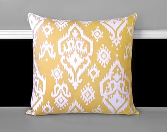 "Pillow Cover - Raji Saffron Yellow 20"" x 20"""