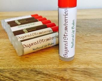 Sugared Strawberries Lip Balm, All Natural and Organic