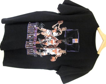 1990s Phoenix Suns Team Vintage T-shirt Sports Basketball Triple Threat Kevin Johnson Dan Majerle