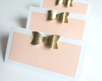 Blush & Gold Food Tents-Food Tents-place cards-gold place cards-blush and gold place cards-food label cards-food labels-drink labels-6