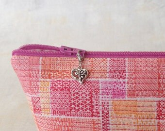 Heart Zipper Charm, Heart Zipper Pull