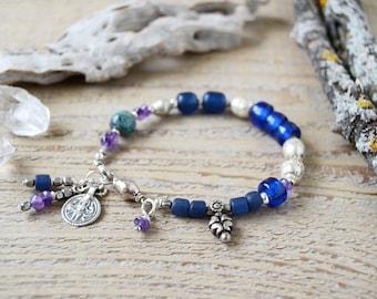 Shiva bracelet - yoga bracelet - yoga jewelry - bohemian bracelet - spiritual bracelet - reiki infused jewelry