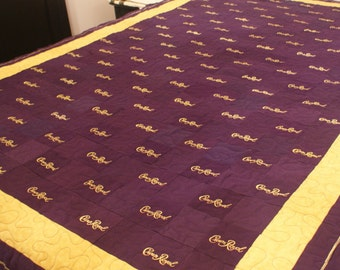 Crown Royal Quilt, Made to Order Custom Quilt, You Choose Pattern and Size, Man Cave, Couch Throw, Christmas Gift, Gifts for Him, Etsy Dudes