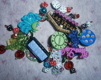 Las Vegas bracelet/ Casino bracelet/ Gambling bracelet/ Vegas/ beadiebracelet