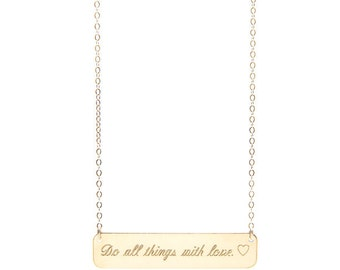 QUOTE BAR necklace - custom quote necklace - custom quote jewlery - personalized quote necklace - inspirational quote necklace - quote
