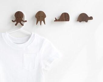 Octopus wall hook