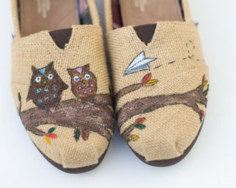Custom Painted Toms Burlap