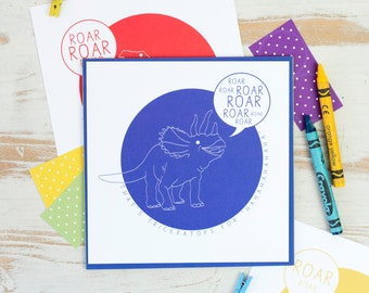 DINOSAUR WRITING SET For Children. Square Postcards Matching Colourful Envelopes Stickers Pen Pal Snail Mail Post Note Cards Kids Party Gift