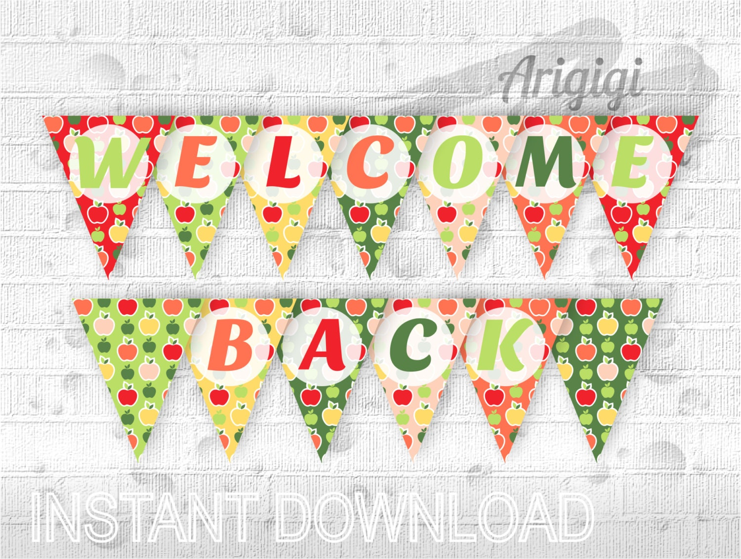 Fan image within welcome back banner printable