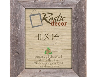 "11x14 Rustic Barn Wood 3.5""Extra Wide Wall Frame"