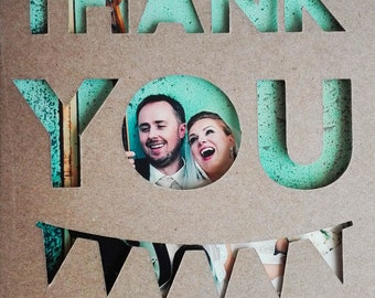 Wedding Photo Thank You Card, Rustic Wedding Thank You Card, Country Wedding Photo Card, Funny Wedding Photo Card, Funny Thank You Card