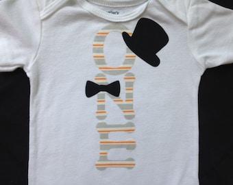 First Birthday Boy 'ONE' Outfit || CUSTOM FABRIC || Boy's 1st Birthday Shirt - Bodysuit | Cake Smash Boy Outfit | 1 Year Old Birthday Boy