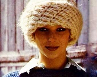 Chunky Spiral Crochet Hat Vintage Crochet Pattern Download
