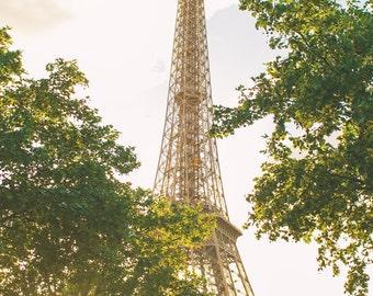 Paris Eiffel Tower at Sunset, Paris Photography, Romantic Art, Paris Wall Art, Paris Decor, Paris Sunset, Paris Nursery Decor, Eiffel tower