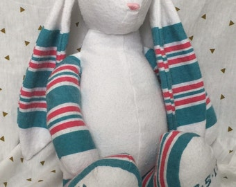 Baby Receiving Blanket or Hospital Blanket Plush Bunny