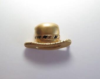 Chloé Vintage Hat Brooch-Signed