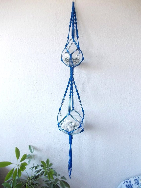 Double Modern Macrame Plant Hanger Indoor Plant Holder Hanging