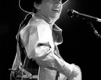 George Strait Poster, Singing & Playing Guitar, Live in Concert, Country Music